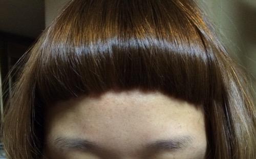 前髪だけで雰囲気激変!!デコ上前髪!!