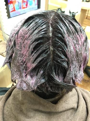 白髪染めで作るグラデーションカラー!!