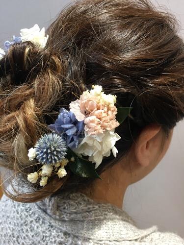 オーダーした髪飾りで作る成人式セット。