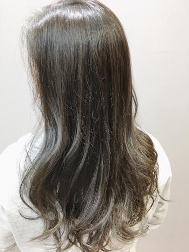 【アプリエレシピ】 黒髪からの透明感ブルーアッシュ。